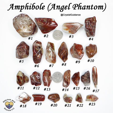 Amphibole Angel Phantom Quartz