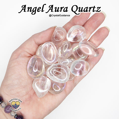 Angel Aura Quartz tumbled stone