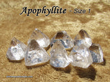 Apophyllite Points natural raw rough stone — multiple sizes available