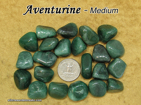 Aventurine Green tumbled stone — multiple sizes available