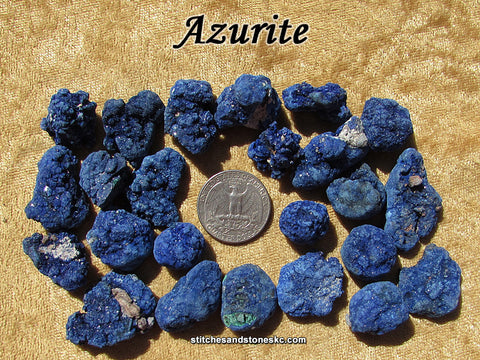 Azurite raw rough stone