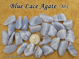 Blue Lace Agate tumbled stone — multiple sizes available