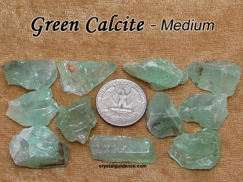 Calcite Green raw rough stone