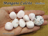Calcite Pink Mangano tumbled stone — multiple sizes available