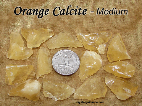 Calcite Orange raw rough stone