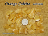 Calcite Orange tumbled stone