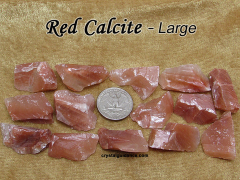 Calcite Red raw rough stone