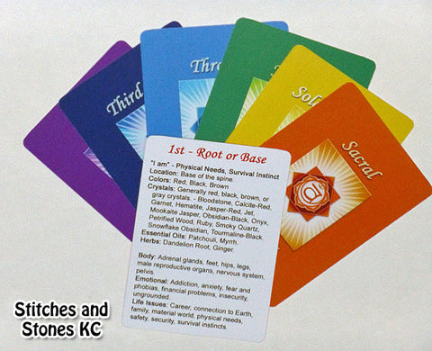 7 Chakra Cards - Quick and Easy Chakra Healing Reference Cards