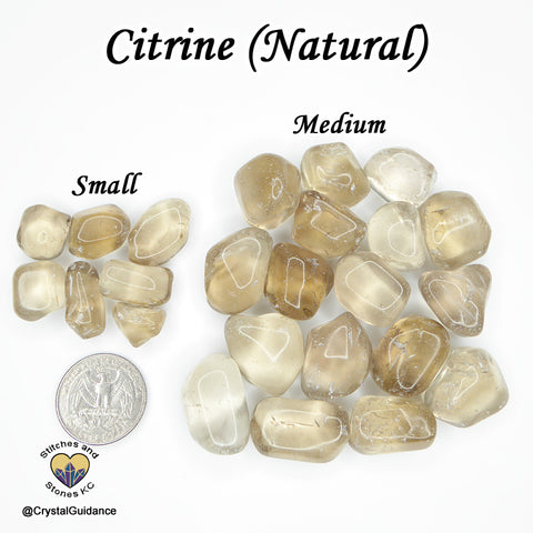 Citrine NATURAL tumbled stone