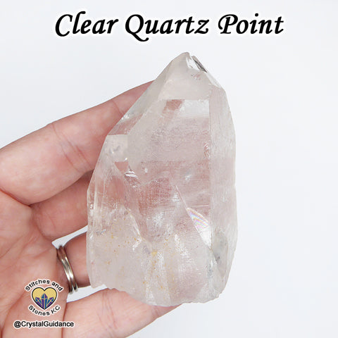 Clear Quartz Point natural raw rough stone