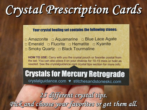 Crystal Prescription Reference Cards for Healing Sets