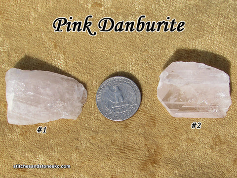 Danburite Pink point