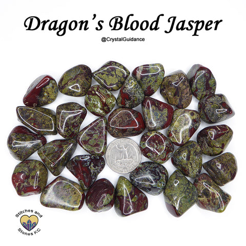 Dragon Stone Dragon's Blood Jasper tumbled stone