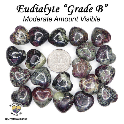 Eudialyte mini heart