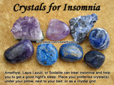 Insomnia Sleep Crystal Healing Set + Nightmares, Sweet Dreams - Amethyst, Sodalite, Smoky Quartz