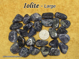 Iolite tumbled stone — multiple sizes available