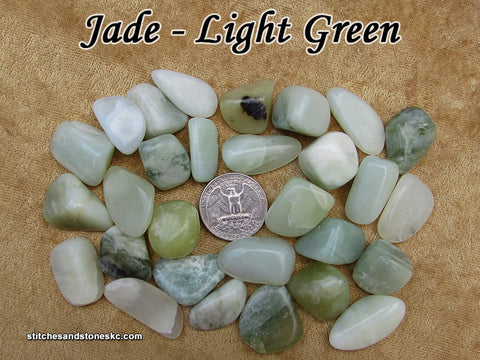 Jade Light Green tumbled stone