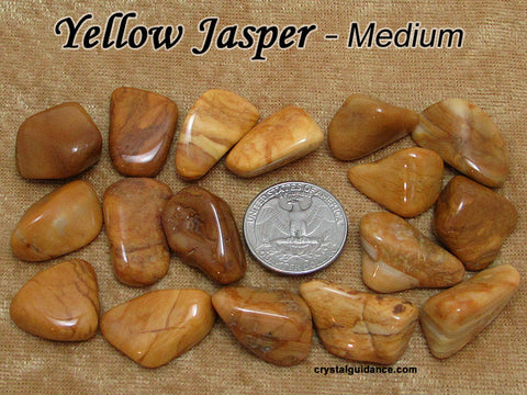 Jasper Yellow tumbled stone