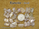 Kunzite tumbled stone - Pink and Clear Spodumene