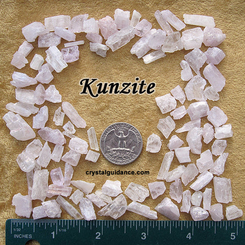 Kunzite raw rough stone - Pink and Clear Spodumene
