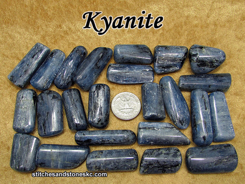 Kyanite Blue tumbled stone