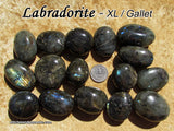 Labradorite tumbled stone — multiple sizes available