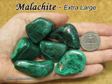 Malachite tumbled stone — multiple sizes available
