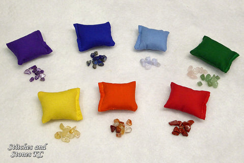 Mini Crystal Filled Chakra Pillows