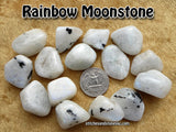 Rainbow Moonstone tumbled stone