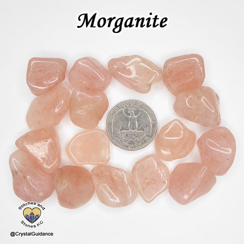 Morganite tumbled stone