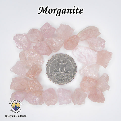 Morganite raw rough stone