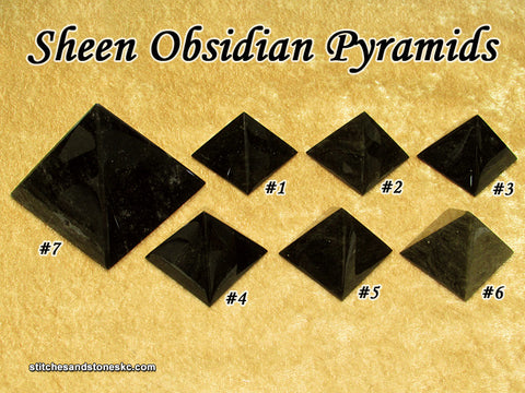 Obsidian Sheen Pyramid