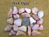 Opal Pink tumbled stone — multiple sizes available