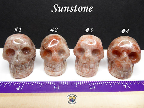 Sunstone Crystal Skull