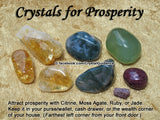Prosperity and Good Luck Crystal Healing Set - Citrine, Green Aventurine, Tiger's Eye