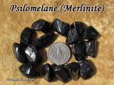 Merlinite Psilomelane tumbled stone
