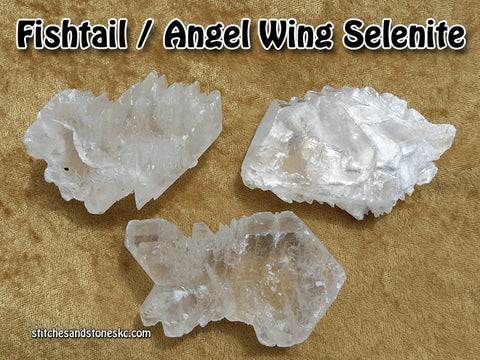 Selenite Fishtail Angel Wing