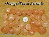 Selenite tumbled stone — White and Orange/Peach