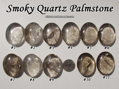 Smoky Quartz palmstone