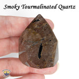 Tourmalinated Smoky Quartz Standing Point