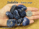 Sodalite tumbled stone — multiple sizes available