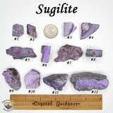Sugilite raw rough stone