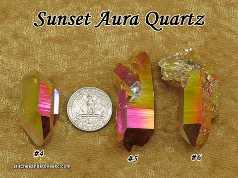 Sunset Aura Quartz