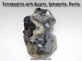 Tetrahedrite with Quartz, Pyrite, Sphalerite
