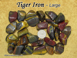 Tiger Iron Mugglestone tumbled stone — multiple sizes available