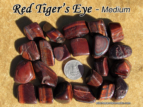Tiger's Eye Red Falcon's Eye tumbled stone