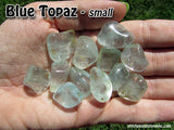 Topaz Blue tumbled stone