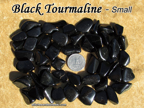 Tourmaline Black tumbled stone — multiple sizes available