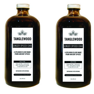 Image of two 32 ounce Ginger Spiced Chai bottles.