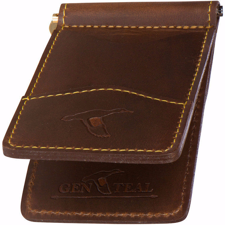 37f1bf0aada Leather Front Pocket Wallet - GenTeal Apparel